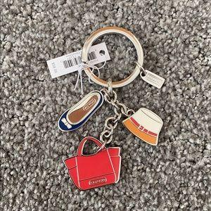 COACH Beach Themed Keychain